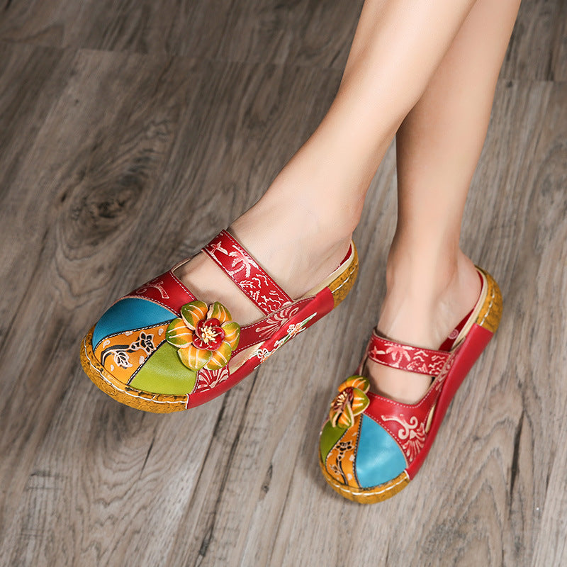 Spring Summer Platfrom Slip-on Women Sandals Candy Color Shoes