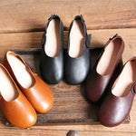 Handmade Literary Comfortable Retro Cowhide Flat shoes