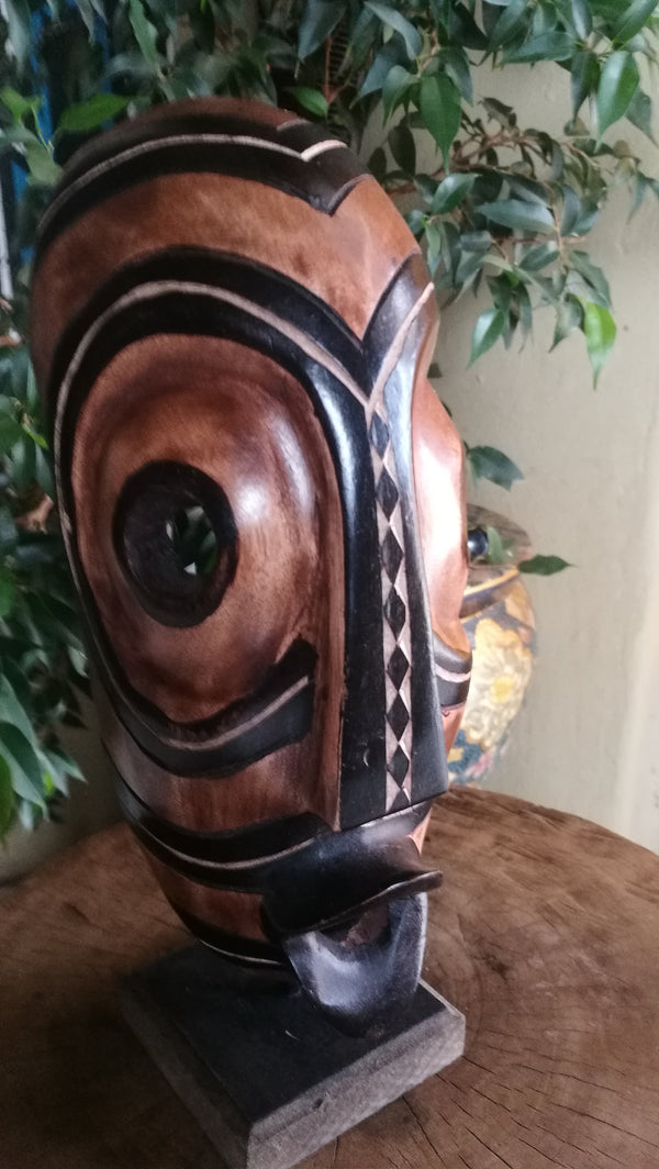 African Wood Carved Tribal Mask Congo