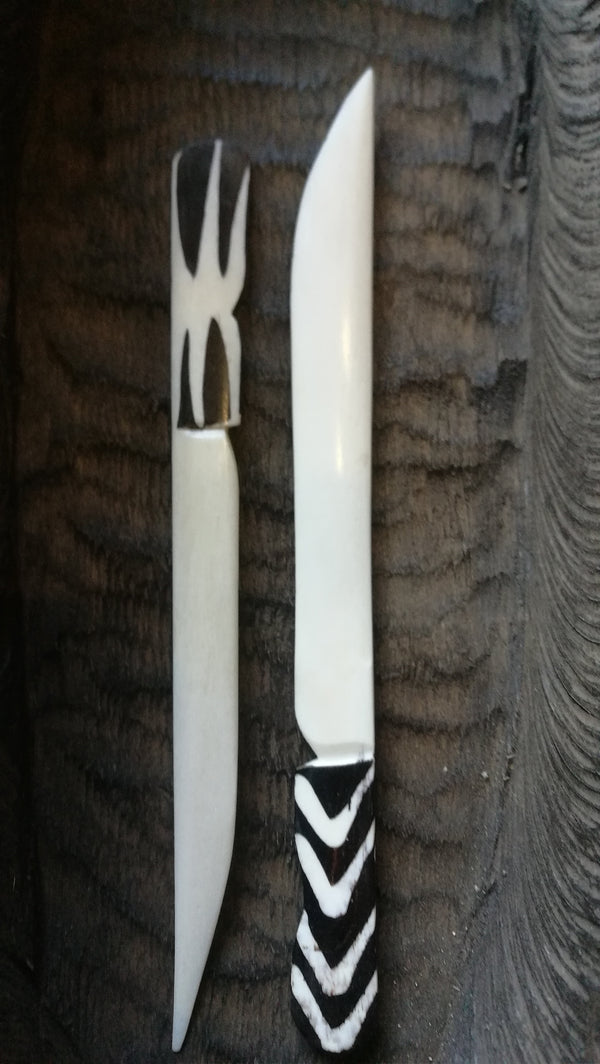 Hand Crafted Fork and Spoon Kenya.