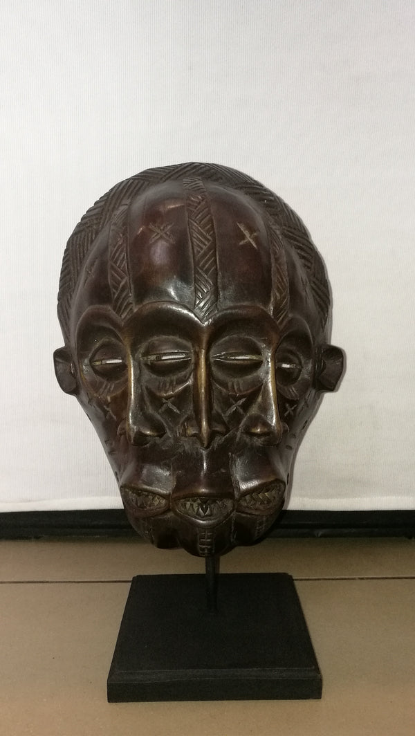 3 Faced Tribal Mask( Original.)