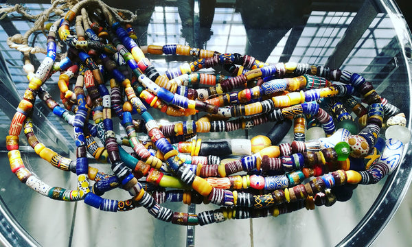Ghanaian Painted Glass Beads