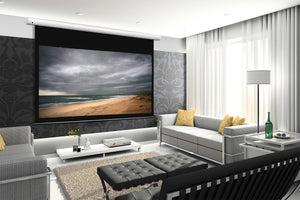 Arcus motorized home theatre projector screen.