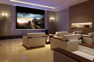 Harbour - Motorized, In-Ceiling, Tab-Tensioned Projector Screen
