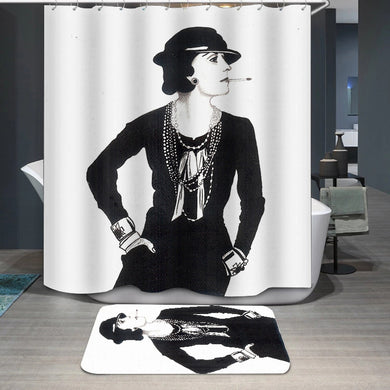 Miss COCO Chanel Shower Curtain