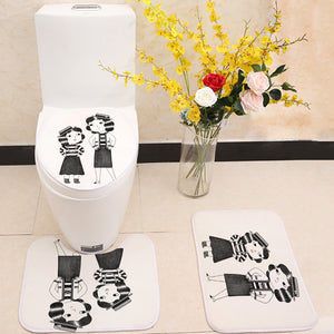 Cute Fashion Ladies 3 Piece Toilet Cover Set