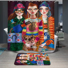 Load image into Gallery viewer, Vintage Stylish Girls Model Shower Curtain