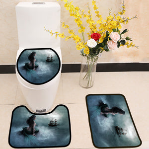 Beautiful Mermaid 3 Piece Toilet Cover Set
