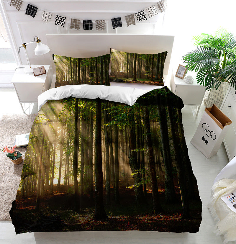 Autumn Forest Trees Duvet Cover Bedding Set