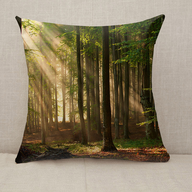Autumn Forest Trees Throw Pillow [With Inserts]
