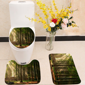Autumn Forest Trees 3 Piece Toilet Cover Set
