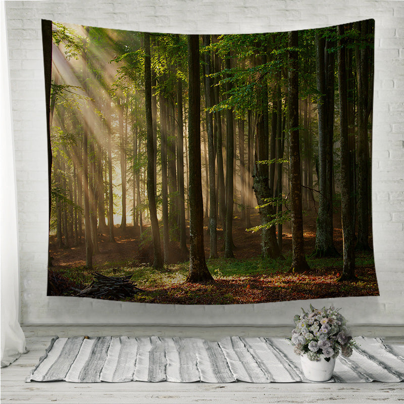 Autumn Forest Trees Wall Tapestry