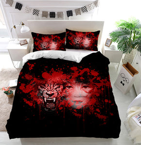 Wolf and Girl Duvet Cover Bedding Set