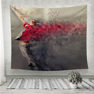 Surreal dance explosion Wall Tapestry