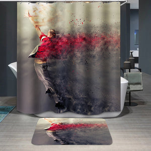 Surreal dance explosion Shower Curtain