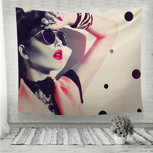 Beauty fashion model girl Wall Tapestry