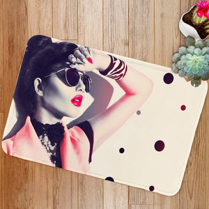 Beauty fashion model girl Bath Mat