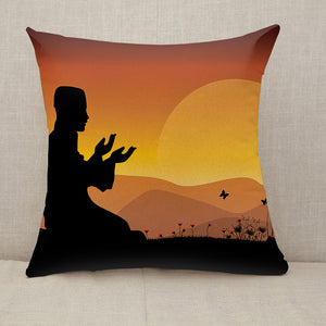 Islam man praying Throw Pillow [With Inserts]