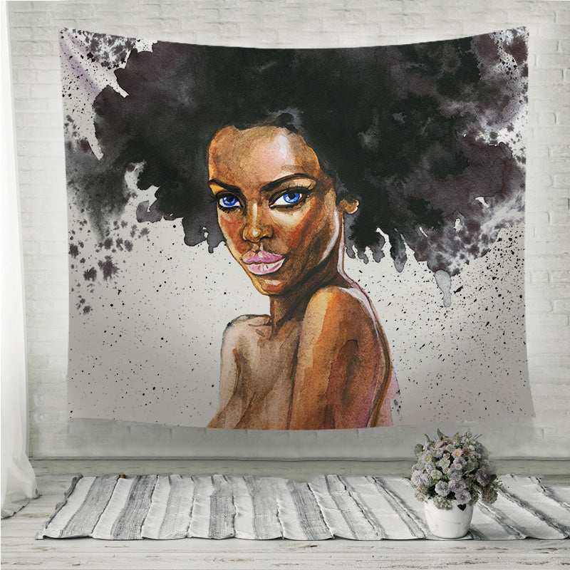 Beauty african woman Wall Tapestry