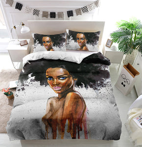 Beauty african woman Duvet Cover Bedding Set