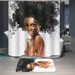 Beauty african woman Shower Curtain