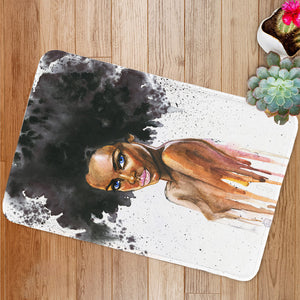 Beauty african woman Bath Mat