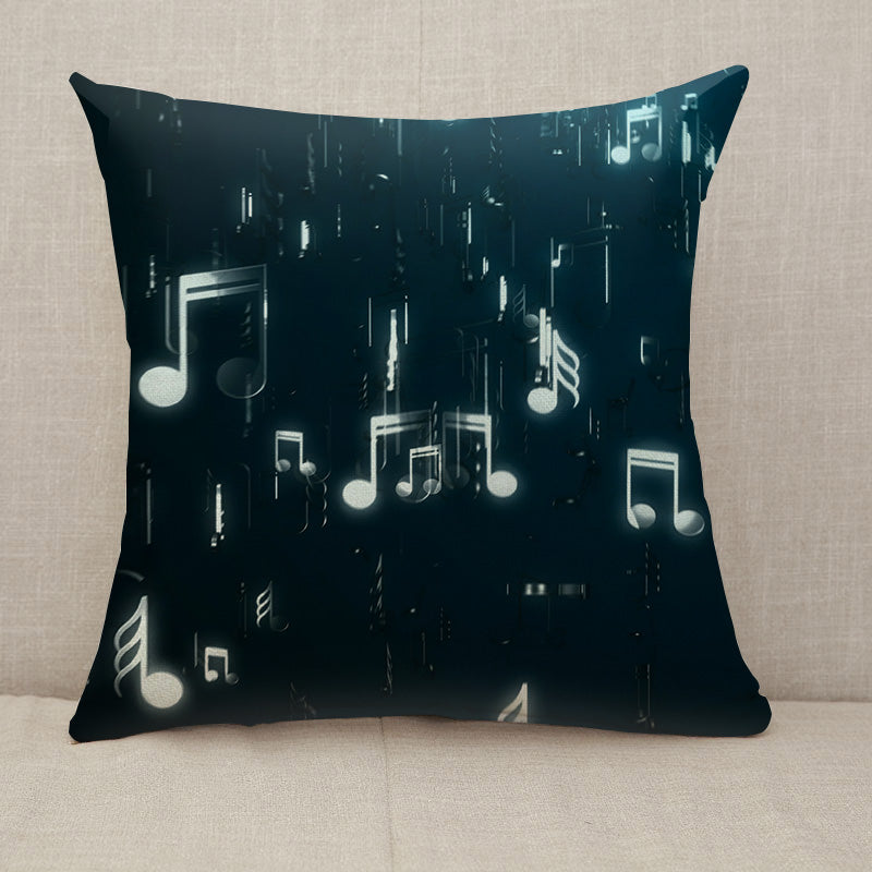 White music notes Throw Pillow [With Inserts]