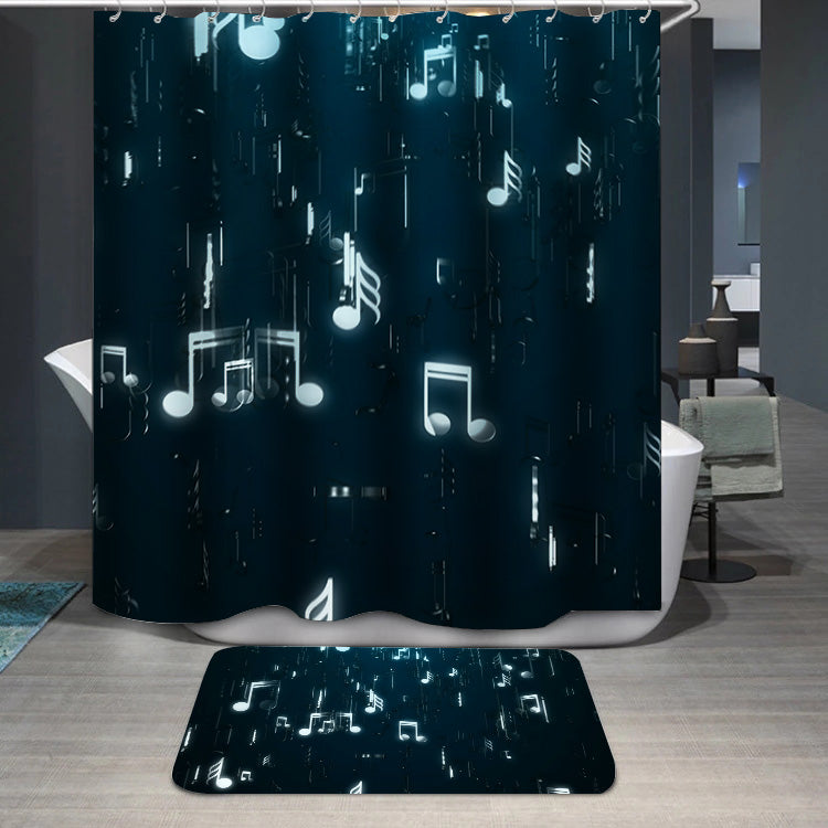 White music notes Shower Curtain