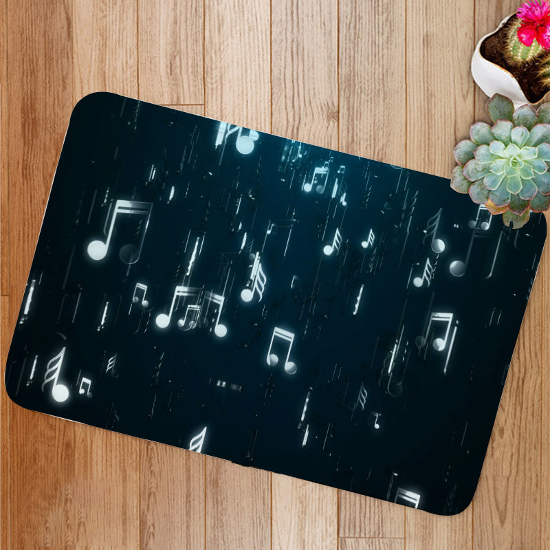 White music notes Bath Mat