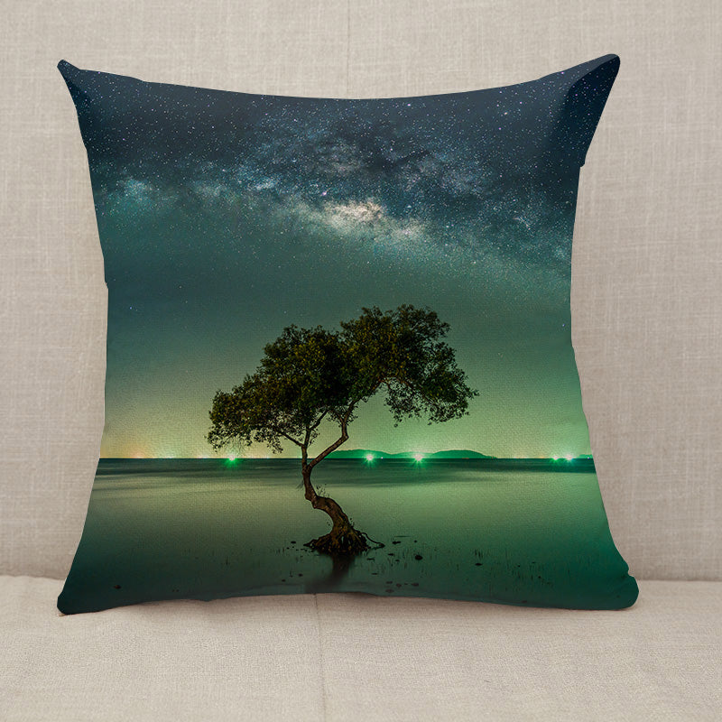 Milky way galaxy night sky stars Throw Pillow [With Inserts]