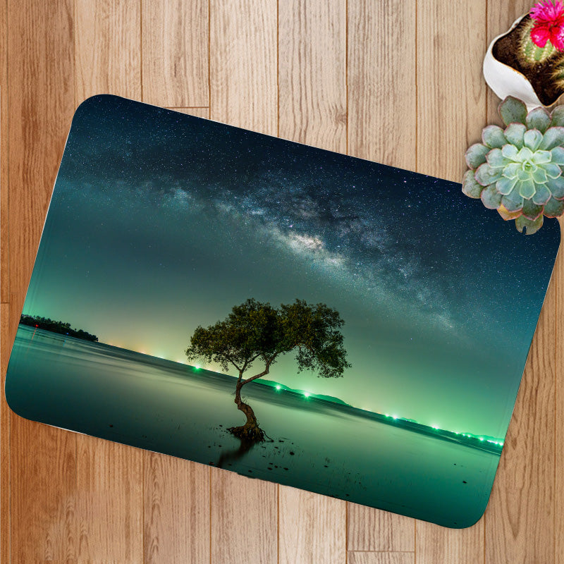 Milky way galaxy night sky stars Bath Mat