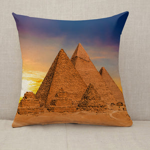 Great Pyramids of Giza Egypt sunset Throw Pillow [With Inserts]