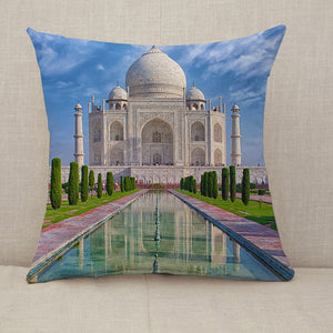 Taj Mahal in Agra India Throw Pillow [With Inserts]