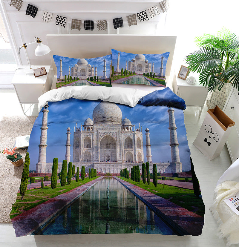 Taj Mahal in Agra India Duvet Cover Bedding Set