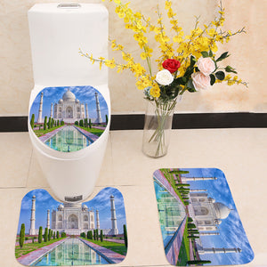 Taj Mahal in Agra India 3 Piece Toilet Cover Set