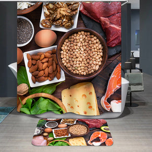 High protein food Shower Curtain