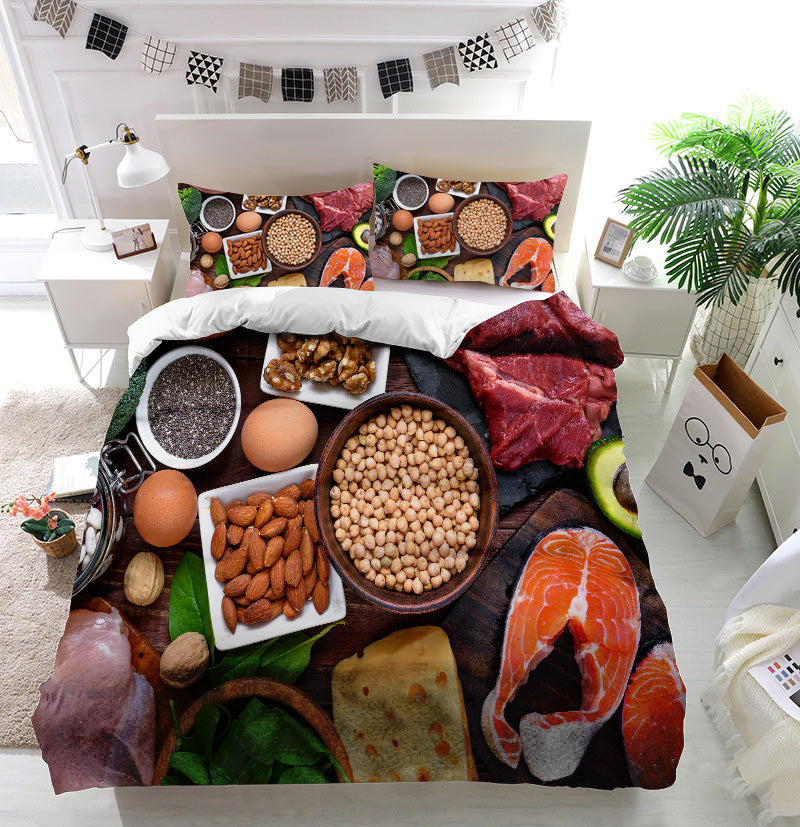 High protein food Duvet Cover Bedding Set