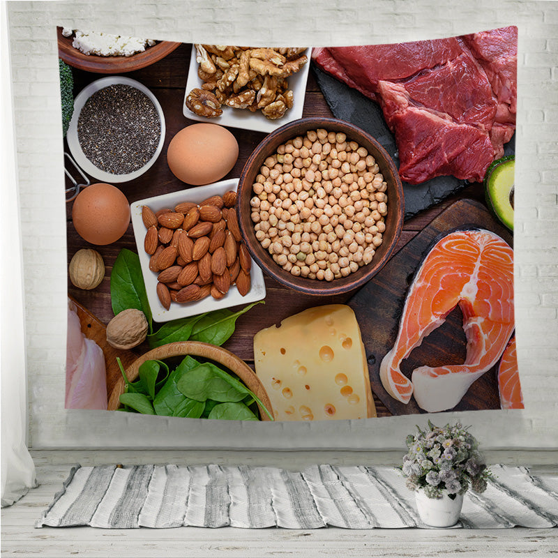 High protein food Wall Tapestry