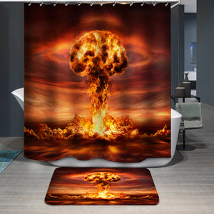 Nuclear Bomb Explosion Mushroom Cloud Shower Curtain