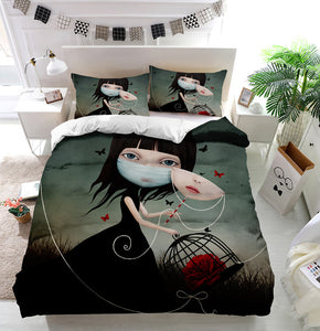 Beauty and Beast Duvet Cover Bedding Set