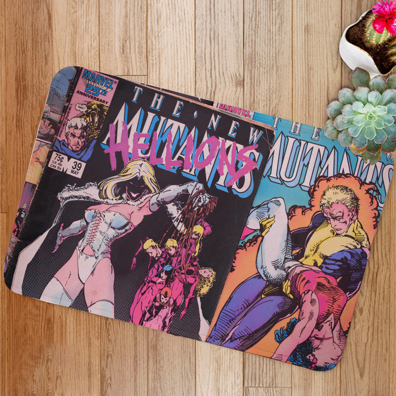 New Mutants comic book covers Bath Mat