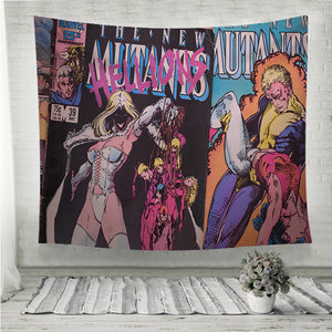 New Mutants comic book covers Wall Tapestry
