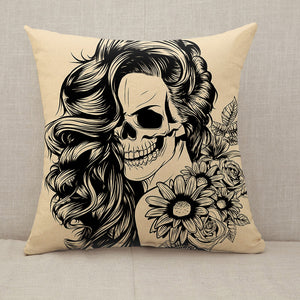 Day of the dead woman face Throw Pillow [With Inserts]