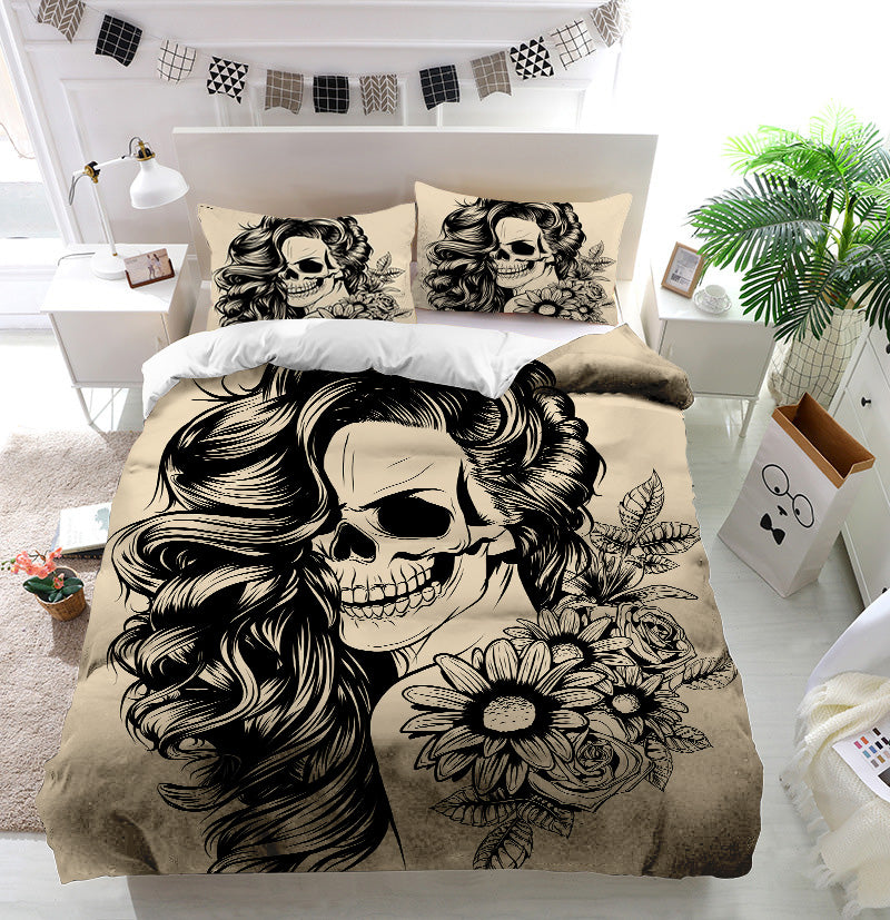 Day of the dead woman face Duvet Cover Bedding Set