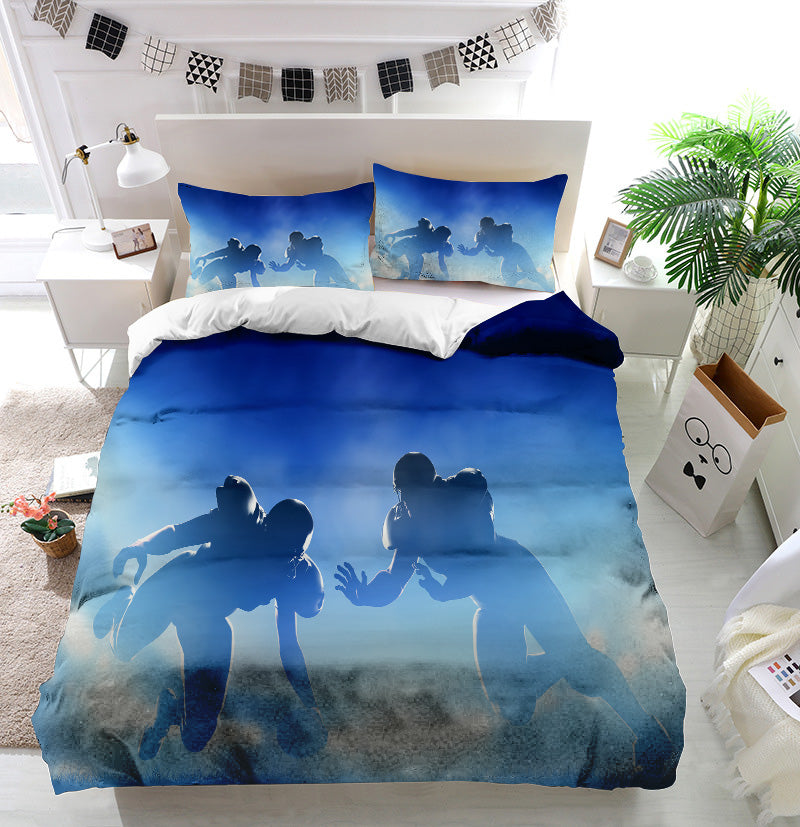 American football touchdown Duvet Cover Bedding Set