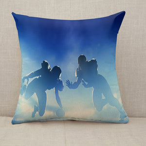 American football touchdown Throw Pillow [With Inserts]