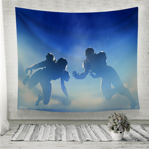 American football touchdown Wall Tapestry