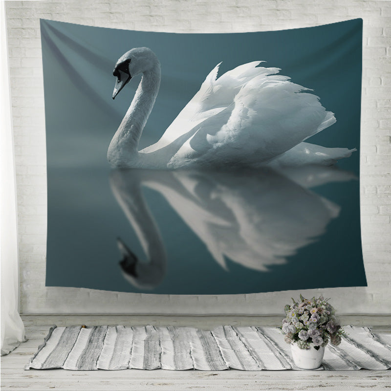 Swan Reflections Wall Tapestry