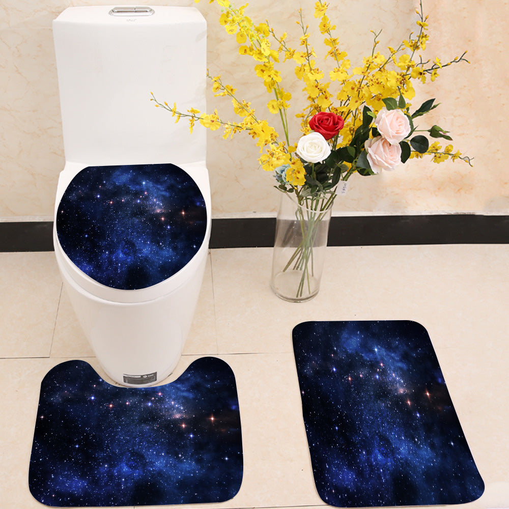Deep space nebulae 3 Piece Toilet Cover Set