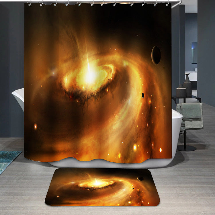 Galaxy core in space Shower Curtain